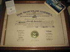 Silver Beaver Medal with Framed Certificate 1958 &  Framed 50 Year Certificate