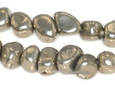 5MM PALAZZO IRON PYRITE GEMSTONE PEBBLE GRANULE NUGGET 5X5MM LOOSE BEADS 15.5""