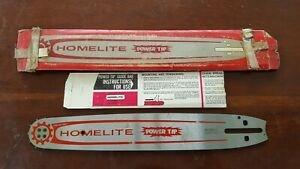 "NOS Homelite Guide Bar PT-14165-50 Vintage Chainsaw 3/8"""
