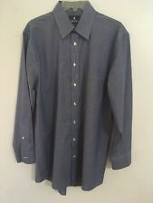 Men's STAFFORD TRAVEL PERFORMANCE SUPER SHIRT 16 (32-33) L Blue/white Striped