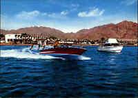 JORDANIEN Postkarte JORDAN Postcard ~1970 AQABA Water Skiing Wassersport color