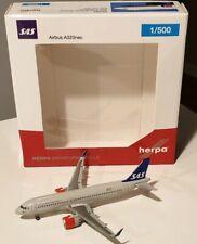 HERPA WINGS 1:500 SAS Scandinavian Airlines Airbus A320neo 531054 LN-RGL