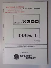 Original Galanti De Luxe Drum 6  Electronic Organ Schematic Diagrams