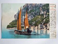 LAGO DI GARDA barca vela Segelboot am Gardasee vecchia cartolina 2649