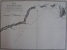 RADE D'ALMORAYRA ,1862, GAUTTIER, PLANS PORTS RADES MER MEDITERRANEE