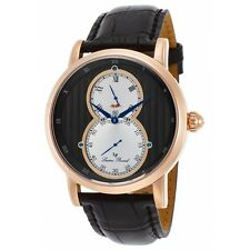 Lucien Piccard Men's Infinity Quartz Stainless Steel and Leather