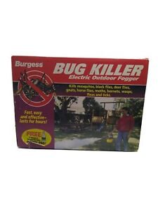 Burgess Electric Outdoor Fogger Bug Killer with 1 Quart of Insecticide Open Box!