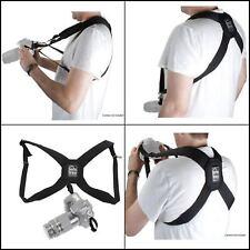 Black HR-DSLR Padded Nylon Camera Harness Adjustable From Porta Brace