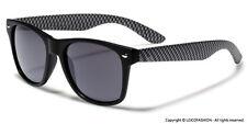 Carbon Fiber Style Frame Men Women Sunglasses Retro 80s Fashion Glasses