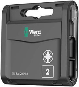 Wera Bit-Box 20 H PZ2 Extra Hard bits for drill/drivers, 25mm, 20pc pack,
