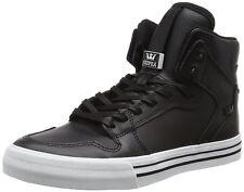 Supra Vaider Skate Shoe Black/White 9 Regular US New