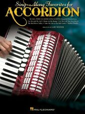 Sing-Along Favorites for Accordion Accordion Book NEW 000312180