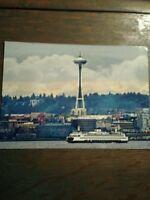 BEAUTIFUL OVER-SIZE PHOTO POST CARD  WASHINGTON STATE FERRIES SEATTLE WASHINGTON