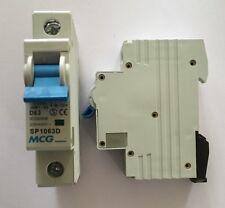 MCG 63 AMP TYPE D 6 kA MCB CIRCUIT BREAKER 230/400V JVM1-63 SP1063D IEC 60898