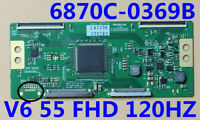 NEW T-con Board 6870C-0369B V6 55 FHD 120HZ For 55'' TV 55LV5500-UA 6871L-2430H