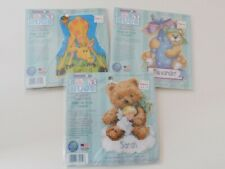 3 Dimensions BABY HUGS Counted Cross Stitch Kits Teddy Bears Giraffe New