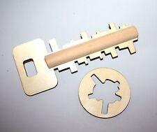 Holz Puzzle Schlüssel mit Schloss Gedächtnis Spiel, Motorik Holz Spielzeug
