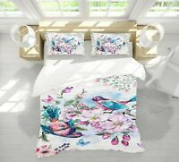 3D Blue Bird ZHUA1125 Bed Pillowcases Quilt Duvet Cover Set Queen King Zoe