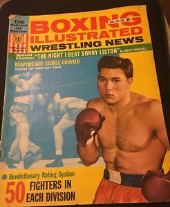 """1964 Boxing Illustrated/Wrestling Magazines, """"The Night I Beat Sonny Liston"""