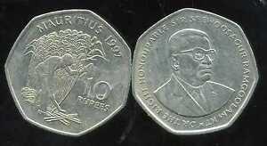 ILE MAURICE   10 rupees  1997