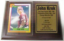 Philadelphia Phillies John Kruk Topps Baseball Card Plaque