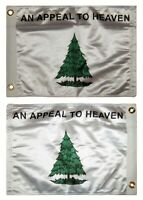 """12x15.5 An Appeal to Heaven Double Sided 2ply Nylon 12""""x15.5"""" Flag Grommets"""