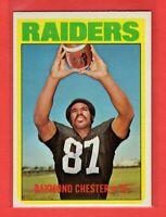 1972 Topps # 143 Raymond Chester -- Raiders -- Box 724-143