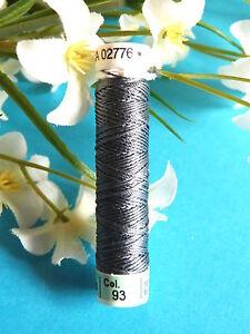 198B / Beautiful Coil Pure Wire Silk Drawstring Gutermann Grey Bluey N° 93