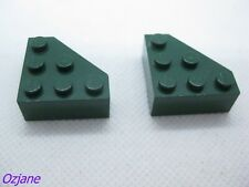LEGO PART 30505 DARK GREEN WEDGE CUT CORNER FOUNTAIN OF YOUTH PIRATES X 2 PIECES