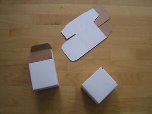 25 Papp-Faltschachteln 6,3x4,2x6,8 cm neutral weiß Geschenkkartönchen neu