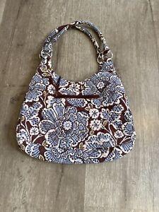 Vera Bradley Hobo Bag Shoulder Purse Julia Slate Blooms Handbag Quilted Retired
