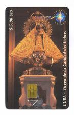 CUBA ETECSA télécarte Religion Chip kart Vierge VIRGEN DE LA CARIDAD DEL COBRE