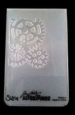 Sizzix Medium Embossing Folder MINI STEAMPUNK fits Cuttlebug Tim Holtz