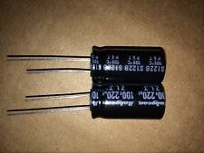 2x RUBYCON ZL Low ESR 100ZLJ220M12.5X25 CONDENSATORE 220UF 100V 20% 12.5X25MM