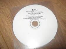 """ESG """" INSANE """" CD PROMO SINGLE 2006 SOUL JAZZ RECORDS (CDR) SJR 138-12"""