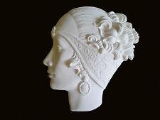 Cara De Pared De Resina Blanco Art Deco