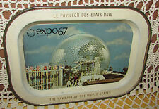 EXPO 67 WORLDs FAIR 1963 Metal Tin Tray The Pavilion FabCraft Montreal Canada