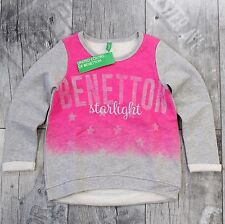 United Colors Of Benetton Hoodie 110 cm Pullover Shirt Oberteil Grau Rosa D054