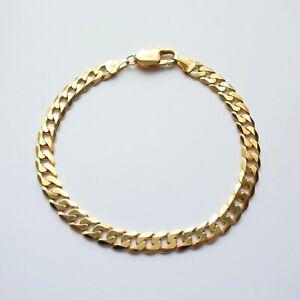 "Bracelet Chain 8"" Yellow Gold 9ct Men Boys Unisex 10.9g"