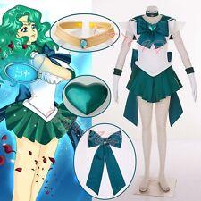 Cafiona Sailor Moon Kaiou Michiru Neptune Super S Cosplay Costume Sexy Dress Set