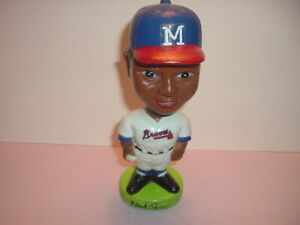 "Milwaukee Braves Hank Aaron 7"" Plastic Bobblehead Nodder Baseball Player #44"