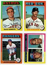 1975 TOPPS Baseball HIGH-GRADE (U-Pick) #221-440 NM+ to NM-MT or Better (SHARP!)