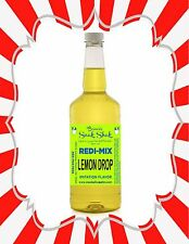 Shaved Ice Syrup - Lemon Drop Flavor In Longneck Quart Size #1Snoball