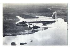 1950s SAAB 90  Aircraft SCANDIA Sweden  Postcard