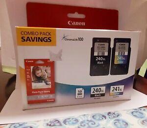 Canon PG-240XL/CL-241XL/GP-502 Black Tri-Color Ink Cartridge.