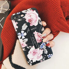 For iPhone X 8 7 6S Plus Retro Rose Flower Ring Holder Kickstand Hard Case Cover