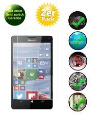 2x Microsoft Lumia 950 XL  Panzerglas Schutzfolie 9H Glas Displayschutz Echtglas
