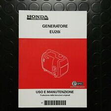 Manuale manual libretto uso manutenzione generatore generator EU 20 i - ITALIANO