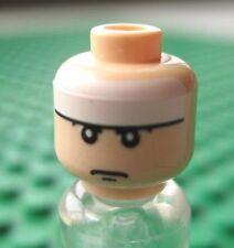Lego BATMAN Light Flesh Minifigure HEAD Bruce Wayne 7783 White Band