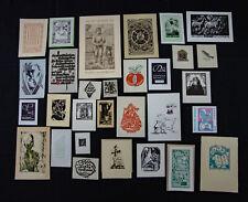 09)Nr.190- EXLIBRIS-und PF Europäische Künstler Konvolut 30 Blätter